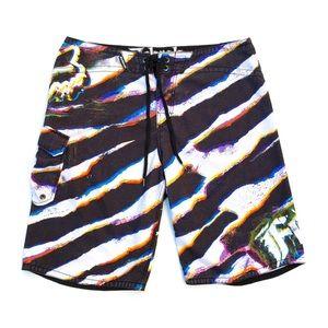 Fox Racing Men's Size 38 Zebra ZEBRAH Board Shorts